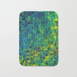 Abstract Flowers Yellow And Green Badematte