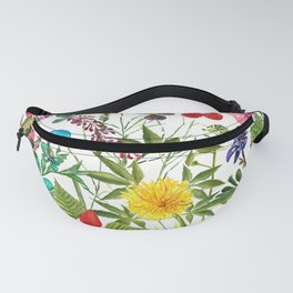 Summer Sunflower Collage Fanny Pack
