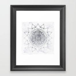ELEGANT MANDALA IN GRAY Framed Art Print