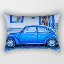 Blue Car in Cyprus Rectangular Pillow