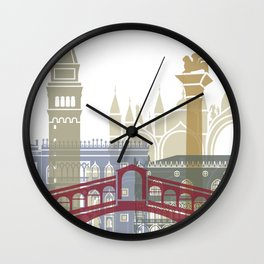 Venice skyline poster Wall Clock