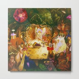 The Fairies Banquet Magical Realism Landscape by John Anster Fitzgerald Metal Print