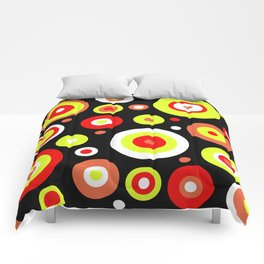 Colorful circles Comforters