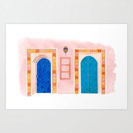 Neighbors - Mediterranean Doors Art Print