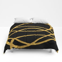 Golden Arcs - Abstract Comforters