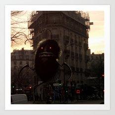 Monstre velu un soir dans la ville Art Print