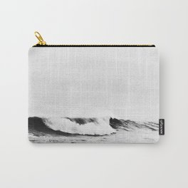 Minimalist Black and White Ocean Wave Photograph Carry-All Pouch