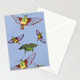 Hummingbird Moth and Frog Stationery Cards