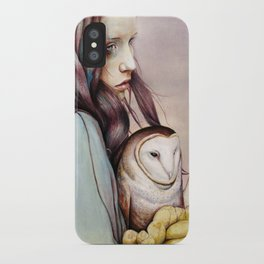 The Girl and the Owl iPhone Case