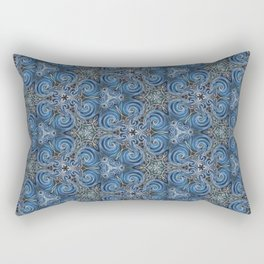 swirl blue pattern Rectangular Pillow