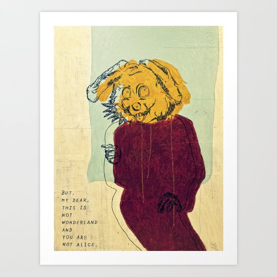 The Rabbit ver. 2 Art Print