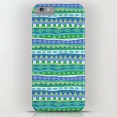 Stripey-Oceania Colors iPhone 6s Plus Slim Case