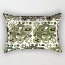 Ethereum, Bitcoin, Dash, Ripple, Litcoin Rectangular Pillow