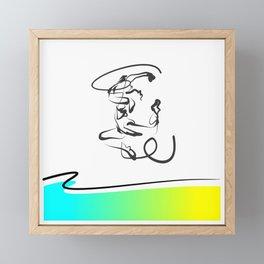 Enthusiastic Dance Framed Mini Art Print