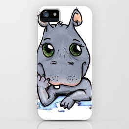 Cute Critters - Baby Hippo iPhone Case