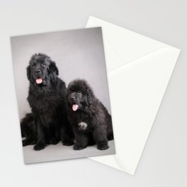 Newfoundland Dog Mother and son Stationery Cards