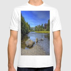 River Rocks  MEDIUM White Mens Fitted Tee