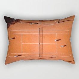 Tennis court orange Rectangular Pillow