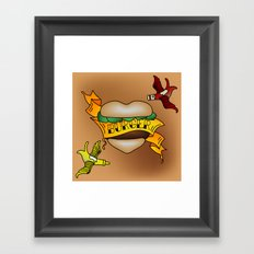 Burger Tattoo Framed Art Print