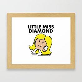 Little Miss Diamond Framed Art Print
