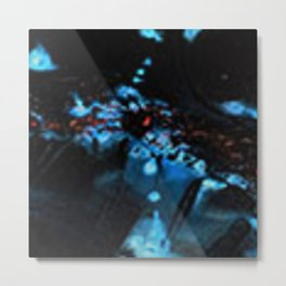 Abstract Black Blue Outer Space Galaxy Cosmos Jodilynpaintings Painting Metal Print