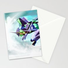 Evangelion Unit 01 - Shinji Ikari's Ride. The Digital Painting. Stationery Cards
