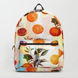 Orange blossom - Grapefruit blossom Grove Art Print Fruit Decor No. 2 Backpack