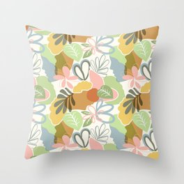 Woman nature pattern Throw Pillow