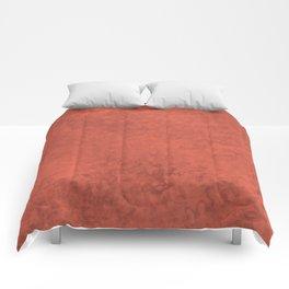 Pantone Living Coral, Liquid Hues, Abstract Fluid Art Design Comforters