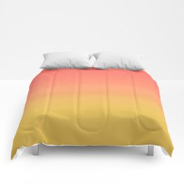 Coral through Gold Ombre Comforters