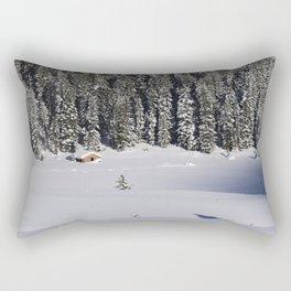 Cabin in the Snow Rectangular Pillow