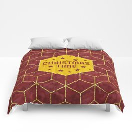 GRAPHIC ART GOLD Christmas Time Comforters
