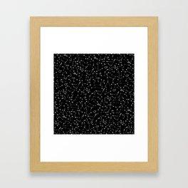 Zodiac Star Constellations Pattern Framed Art Print