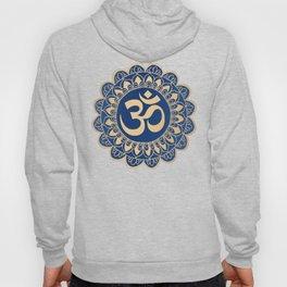 Blue and Gold Ohm Mandala Hoody