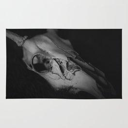 Black and White Deer Skull Rug