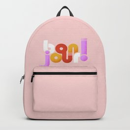 bonjour - french typography Backpack