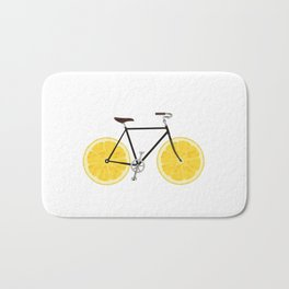 Lemon Bike Bath Mat