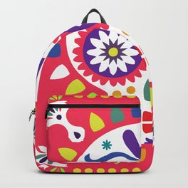 Day of the Dead Red Sugar Skull Backpack
