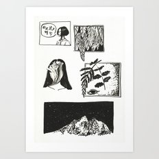Comic Strip Art Print