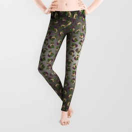 Pug in Fawn - Day of the Dead Sugar Skull Dog Leggings