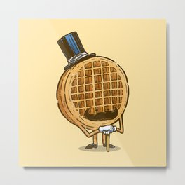 The Fancy Waffle Metal Print