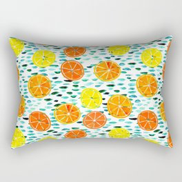 Citrus Lily (white) Rectangular Pillow