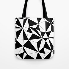 Geo - black and white Tote Bag