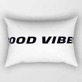 Good Vibes in Threes in Black Rectangular Pillow