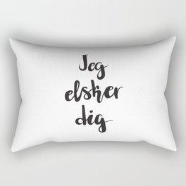 I Love You In Danish Rectangular Pillow