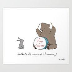 Twelve Drummers Drumming  Art Print