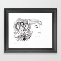 Robot Girl Framed Art Print