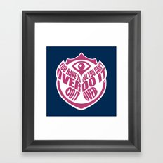 TomorrowWorld 2013 - Over Do It Framed Art Print