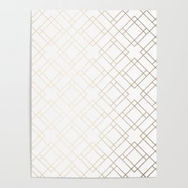 Simply Mod Diamond White Gold Sands on White Poster