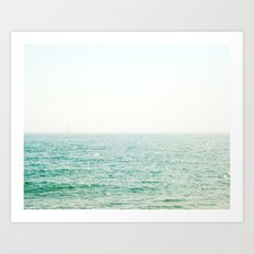 Ocean Ghost Ship Art Print